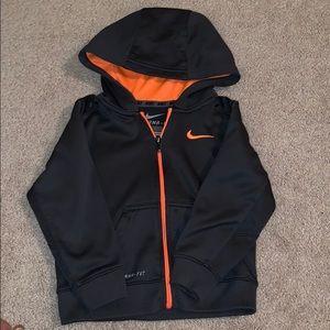 Nike boys zip up hooded sweatshirt